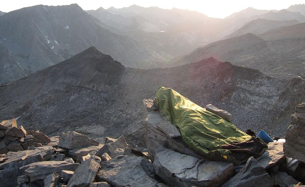 test av bivacksäck i bergen och fjällen